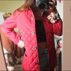 Burberry Jackets & Coats - AUTHENTIC Burberry red windbreaker quilted jacket